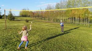 Tinklinio, badmintono aikštelė